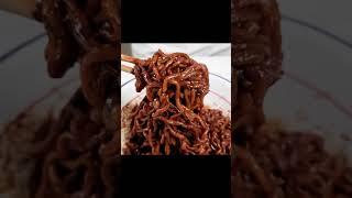 매운 크림 짜파게티 / Korean Black Cream Noodles