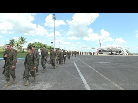 Phiblex 15 - Arrival of US Marines Contingent in Clark Air Base