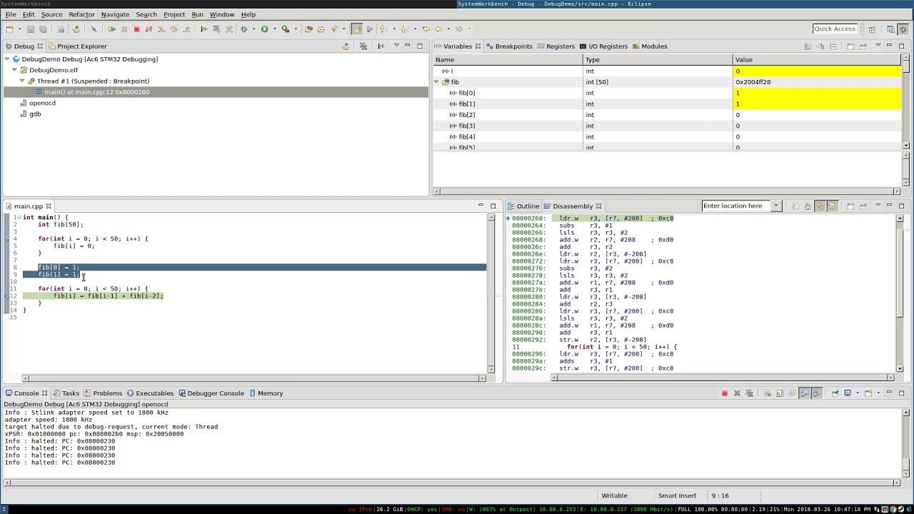Introduction to Debugging STM32 with System Workbench