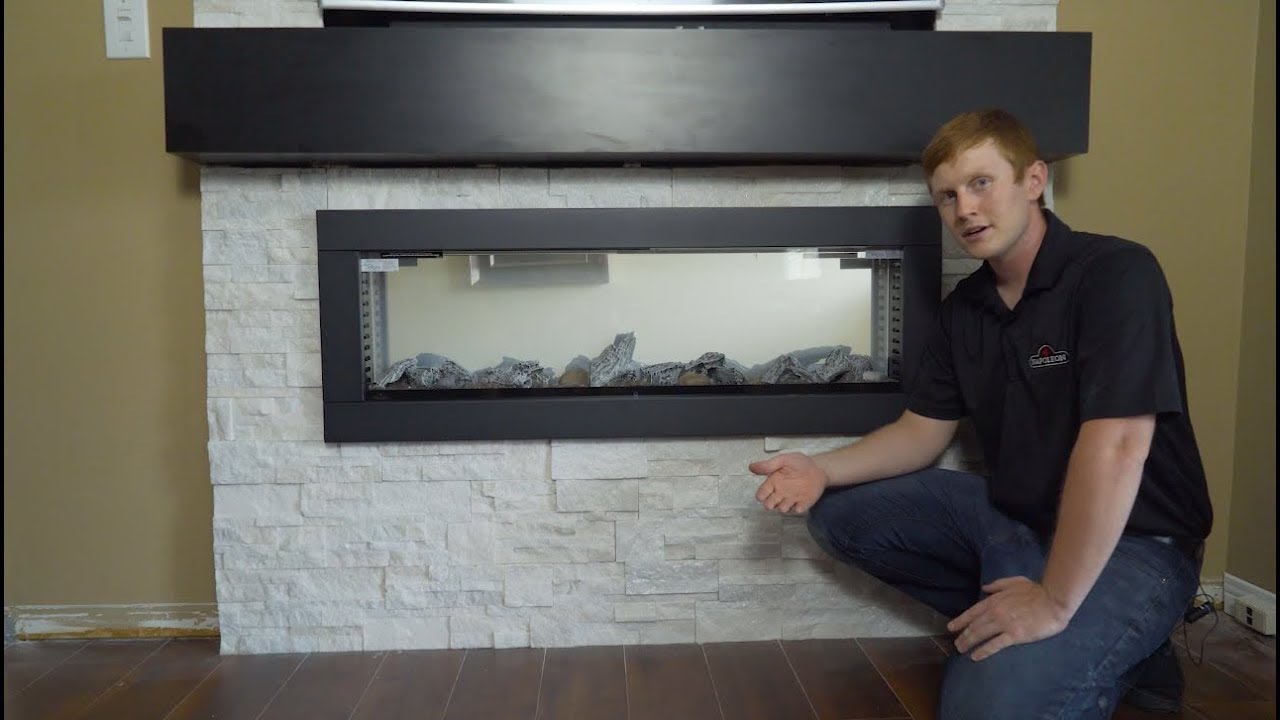 Napoleon Clearion Electric Fireplace Installation Youtube