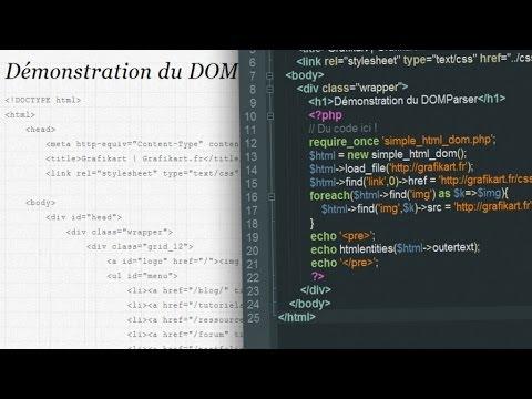 Tutoriel PHP : DOM Parser