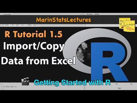 How to Import Data, Copy Data from Excel to R:.csv &.txt Formats (R Tutorial 1.5)