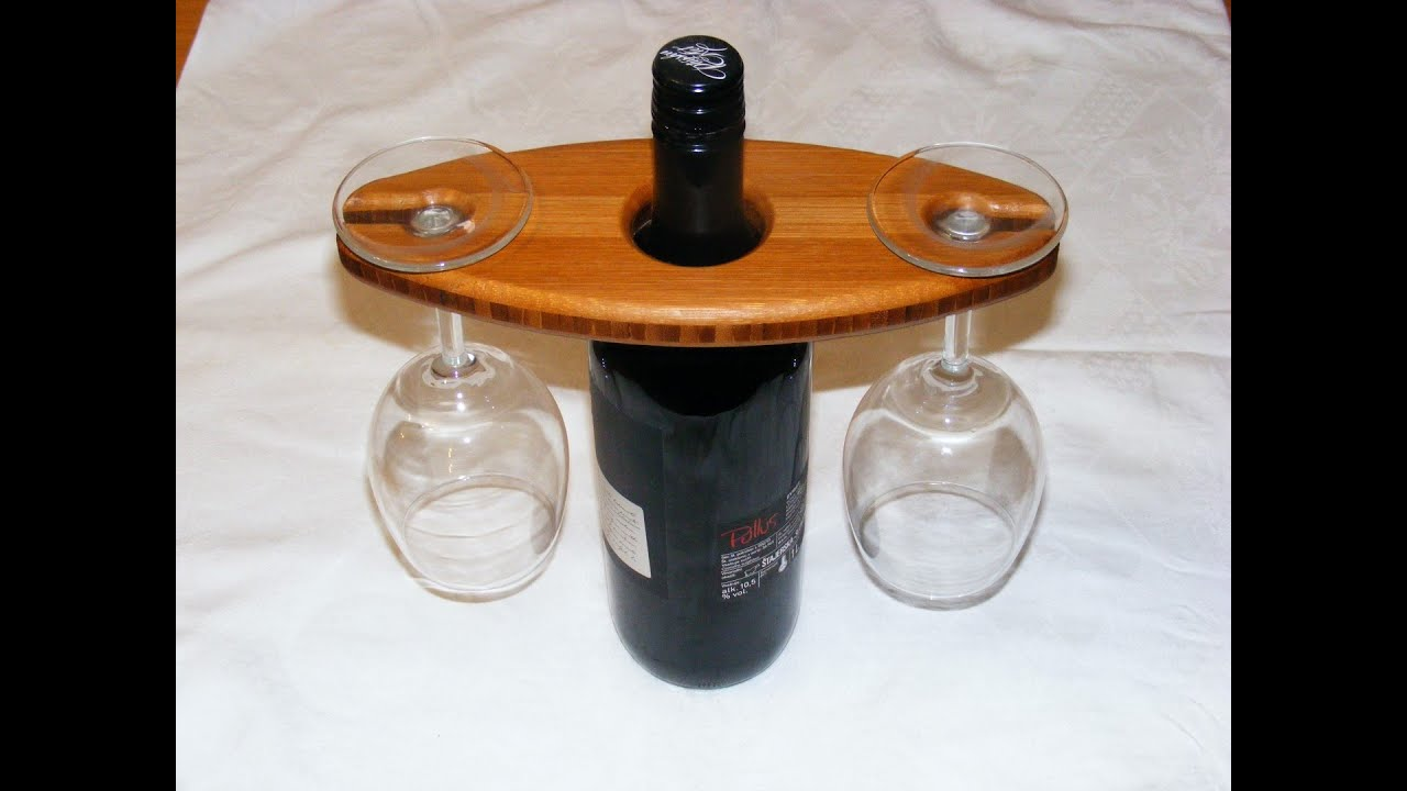 How To Make A Wine Bottle Glass Holder Youtube