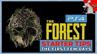 THE FOREST PS4 STARTER TIPS - How To Survive The First Few Days