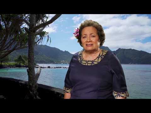 Amata talks about American Samoa - Samoan Language