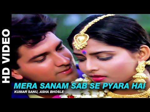 Mera Sanam Sab Se Pyara Hai - Dil Ka Kya Kasoor | Kumar Sanu, Asha Bhosle | Prithvi & Divya Bharti