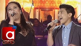"ASAP: Karla Estrada sings ""Through The Fire"" with Darren Espanto"