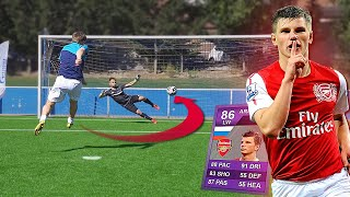 HOW GOOD IS A 86 FIFA RATED FOOTBALL PLAYER in a REAL PENALTY SHOOTOUT?