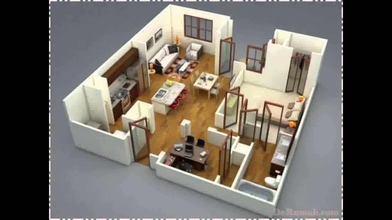 Denah Rumah Minimalis 1 Lantai 3 Kamar Tidur 3d