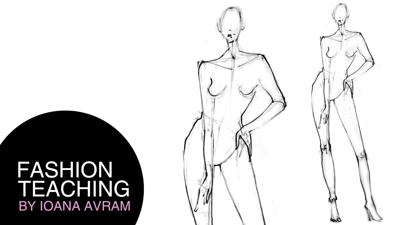 How to draw a fashion model - quick sketch - YouTube