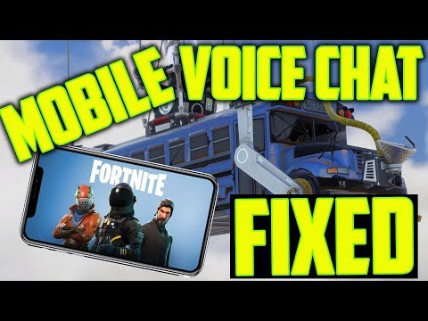 Fortnite mobile audio chat not working