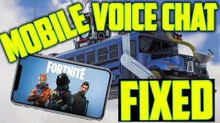 Fortnite MOBILE Voice Chat Not Working - ALL Fixes - TOP 5 Ways!