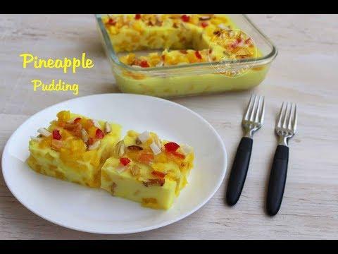 Easy Pineapple pudding || പൈനാപ്പിൾ പുഡ്ഡിംഗ്