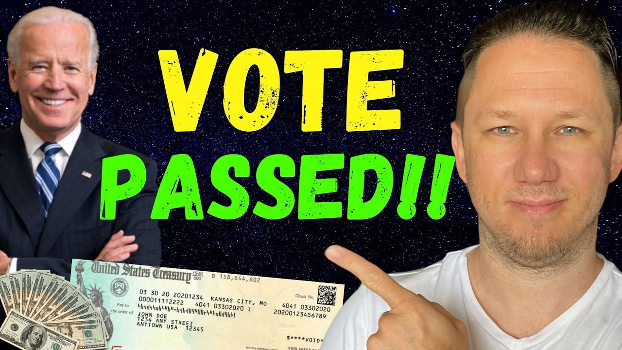 VOTE PASSED!!! Fourth Stimulus Check Update Today 2021 & Infrastructure Package - The Daily Show
