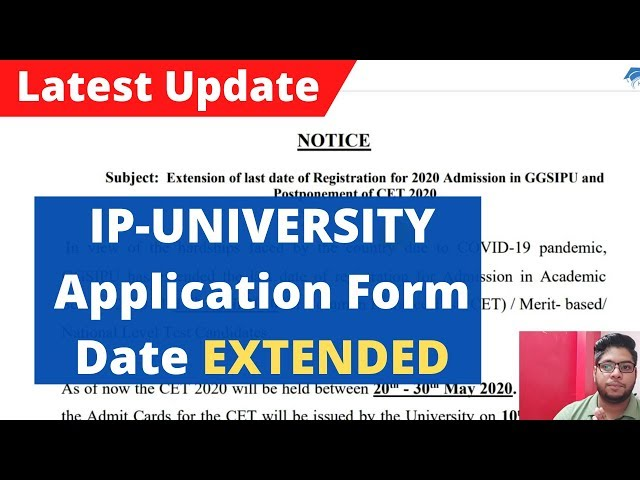 IP-University application form Date Extended due to covid-19 2020|Latest Update