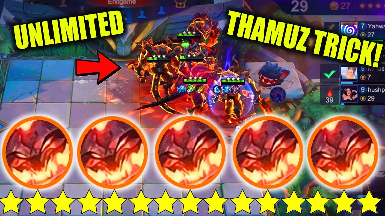 NEW TRICK UNLIMITED 3 STAR THAMUZ MUST WATCH SUPER OP PLEASE MOONTON NERF THIS!