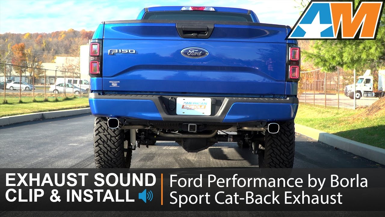 2015-2016 F-150 Ford Performance Sport Cat-Back Exhaust (3 ...