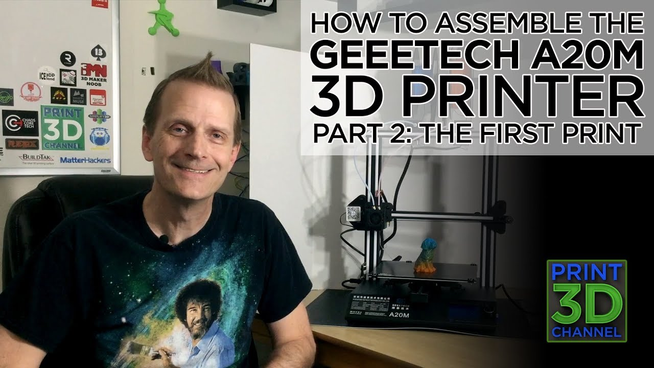 How To Assemble The @Geeetech A20M 3D Printer: Part 2 - The First Print