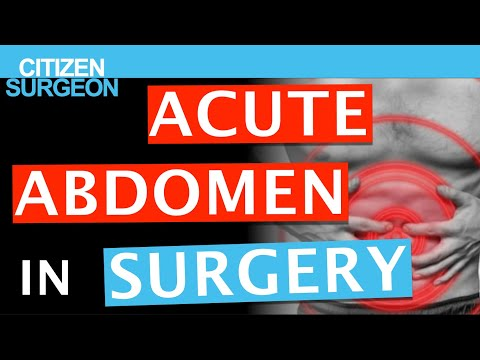 Acute Abdomen Review - A Surgeon's Discussion on Causes, Diagnosis and Treatment