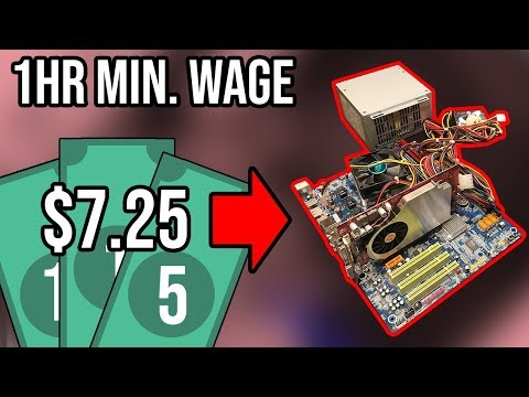 Building A Gaming PC With 1 Hour Of Minimum Wage Earnings ($7.25) Cheapest Computer Build