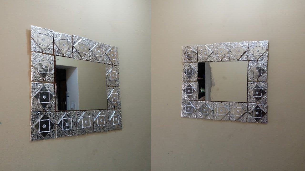 espejo de marco reciclado fcil y econmico using