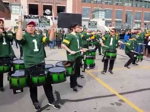 Green Bay Packers Tundraline Drummers at Lambeau Field .. Packers vs Panthers 10/19/2014