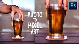 How to Make Pixel Art from Photos - Photoshop Tutorial