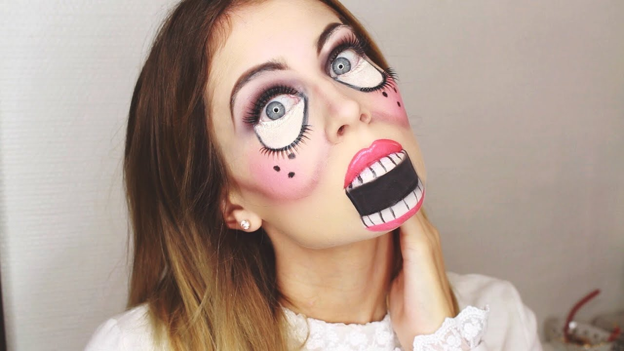 simple halloween doll makeup bella youtube. Black Bedroom Furniture Sets. Home Design Ideas