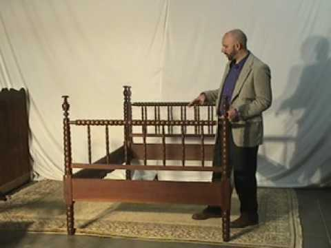 Walnut Antique Jenny Lind Bed Youtube