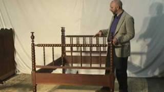 Walnut Antique Jenny Lind Bed