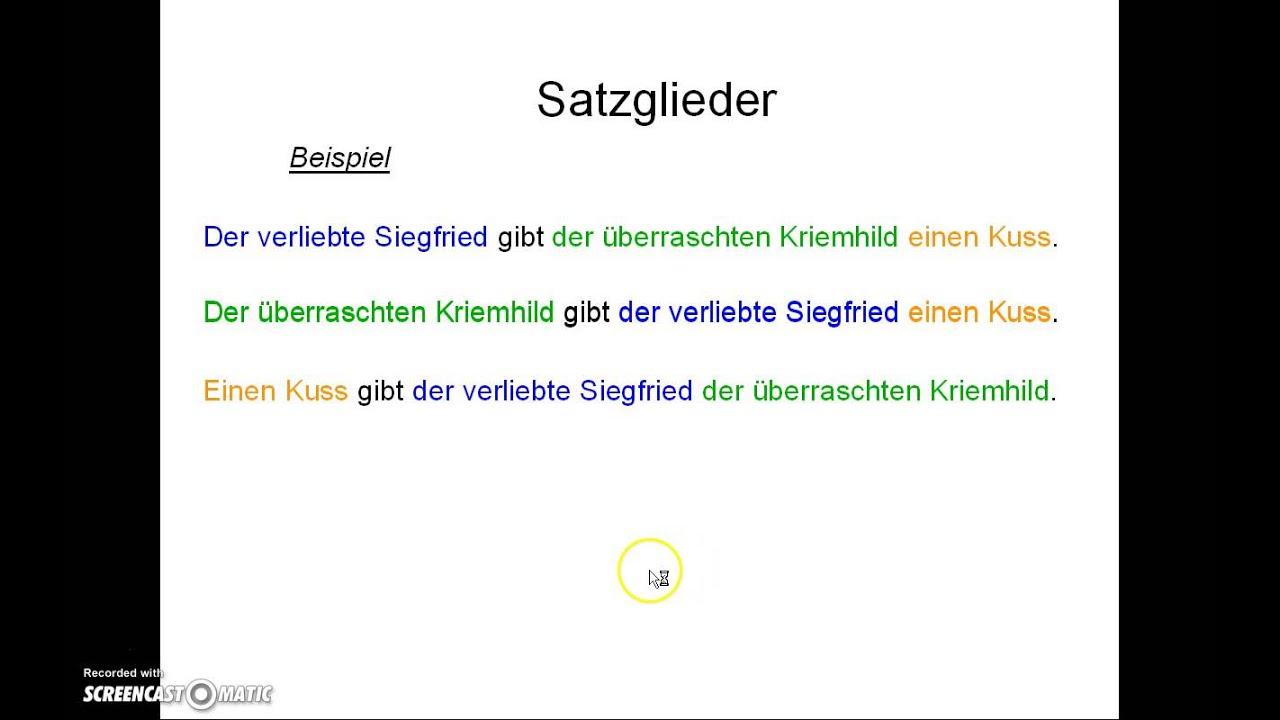 Erklärvideo Satzglieder - YouTube