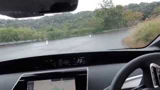 燃料電池車ミライの試乗動画。コースはサイクルスポーツセンターのクロ...