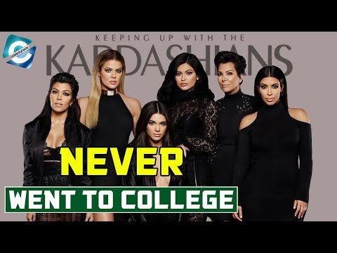 How far did the Kardashian-Jenner family get into their education