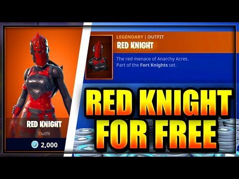 FORTNITE: How To Get The RED KNIGHT For FREE In Battle Royale (Free Skins PS4 Xbox One PC)