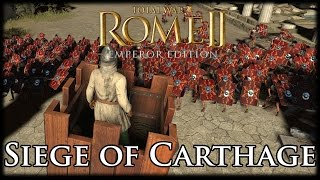 SIEGE OF CARTHAGE! Total War Rome 2 Multiplayer Siege Gameplay!