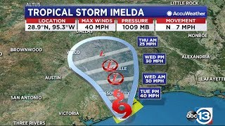 WATCH LIVE: Tropical Storm Imelda brings heavy rain and possible flooding