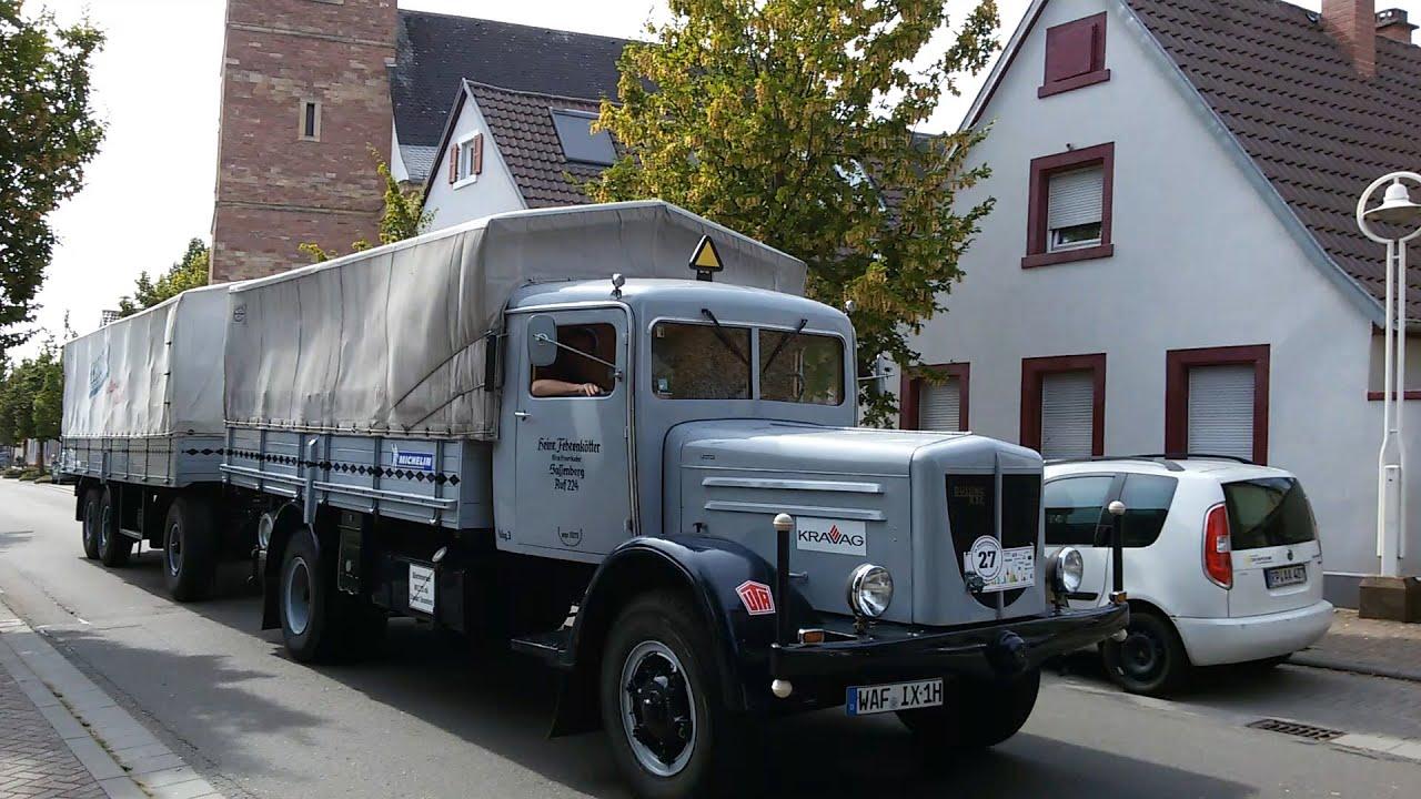 Oldtimer LKW Auf Dem Weg Nach Speyer