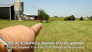 48 acres horse farm for sale Country Home Ponds, Barns, Kentucky KY