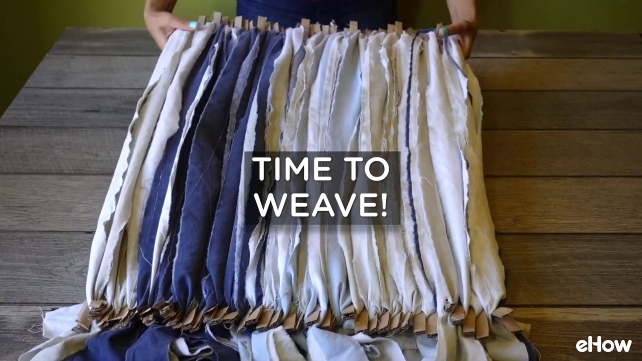 How To Weave A Rag Rug With Extra Fabric Ss