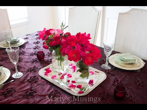 Table Setting Ideas with Marsala Color of the Year