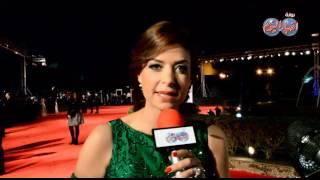 الفنانة منال سلامه تحييكم من مهرجان القاهرة السينمائى الدولى