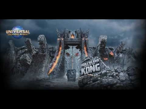 Skull Island Reign of Kong (On-ride music) - Raptor Chase