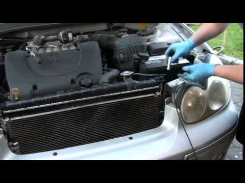 How to Replace a Condensor  2003 Hyundai Sonata V6  YouTube
