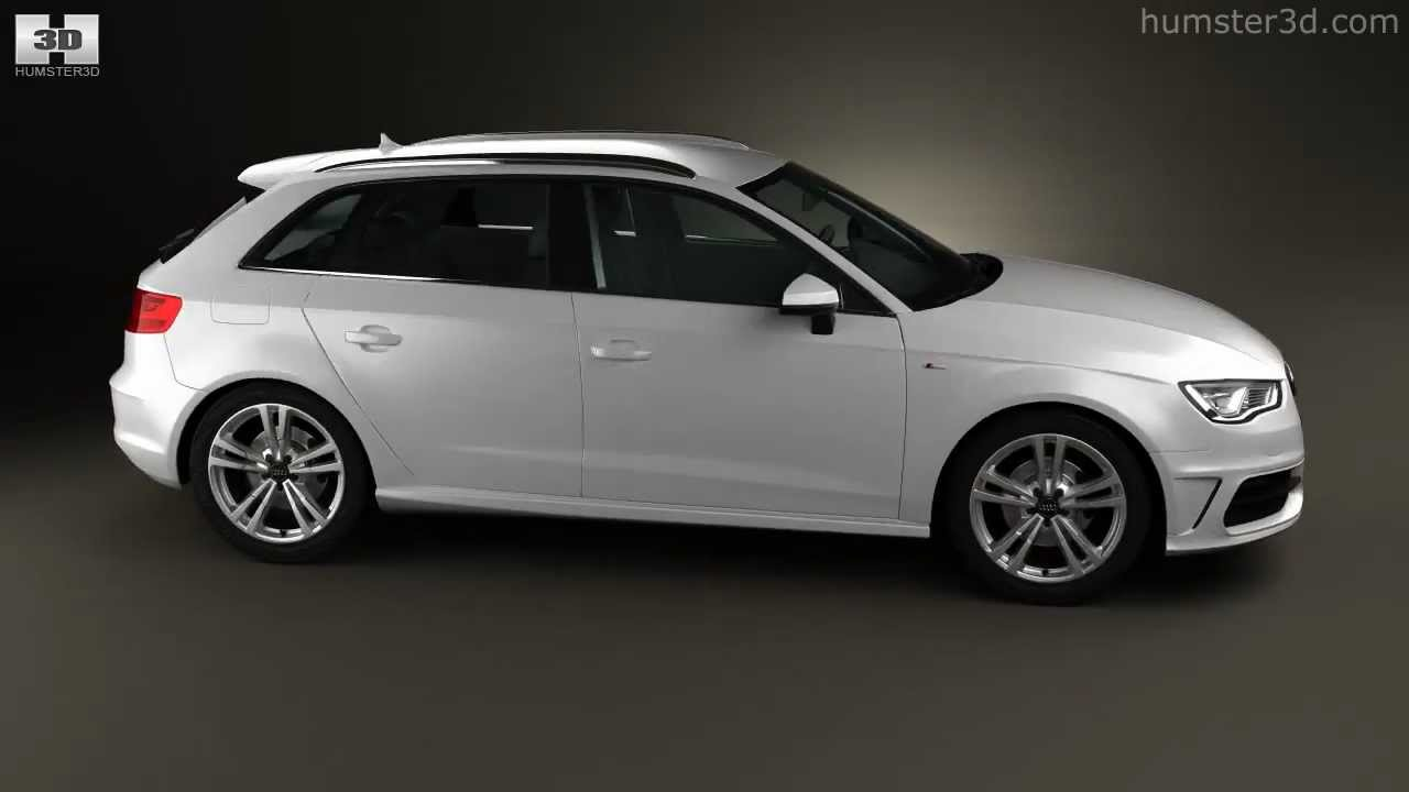 audi a3 sportback s line 2013 by 3d model store youtube. Black Bedroom Furniture Sets. Home Design Ideas
