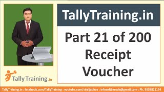 Module 8 | Session 2 | Receipt Voucher Example Entry in Tally ERP 9 in Hindi by Expert Training