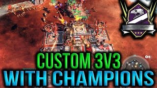 Halo Wars 2 - Insane 3v3 Custom With Champion Friends!