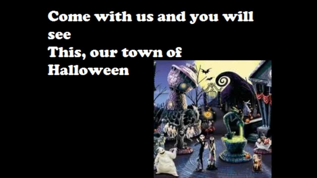 this is halloween - lyrics - youtube