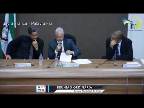 Reunião Ordinária (04/12/2017) - Câmara de Arcos