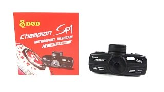 DOD SP1 Motorsport Dashcam - Full Review with downloadable sample clips