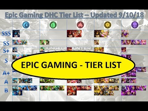 new tier list by epic gaming dhc dungeon hunter champions